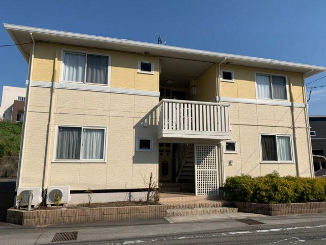 宮崎県宮崎市にてアパート2棟同時に屋根・外壁塗装工事が完了しました