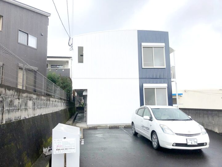 鹿児島県鹿児島市坂之上のアパートにて屋根・外壁塗装工事が完成