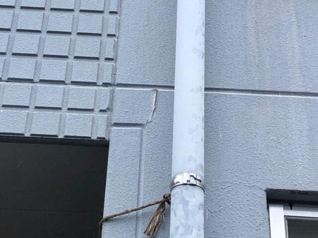 マンション外壁塗膜の剥がれ
