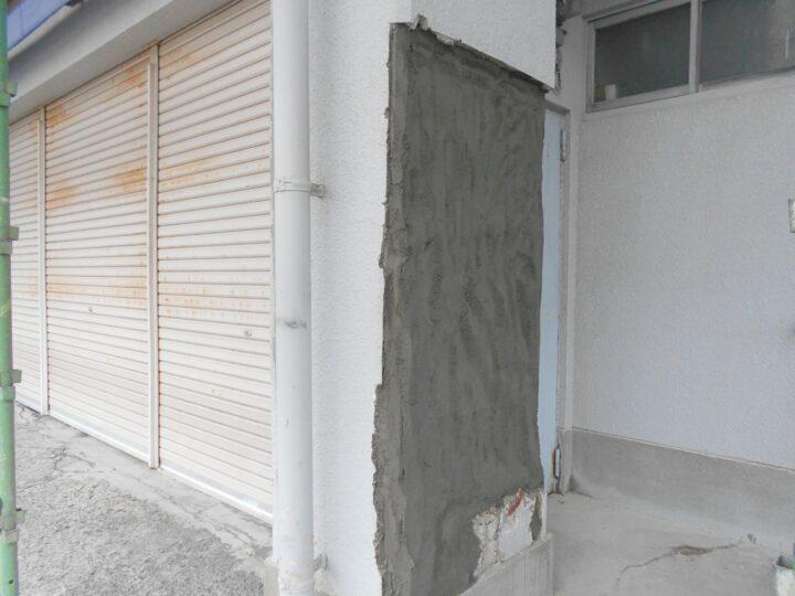 外壁下地補修の様子
