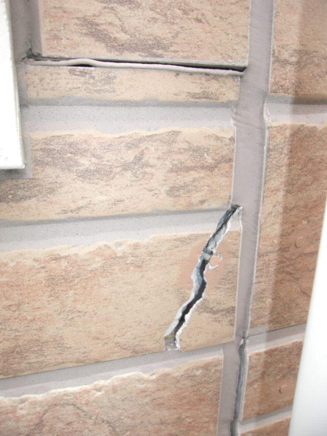 外壁材の割れ