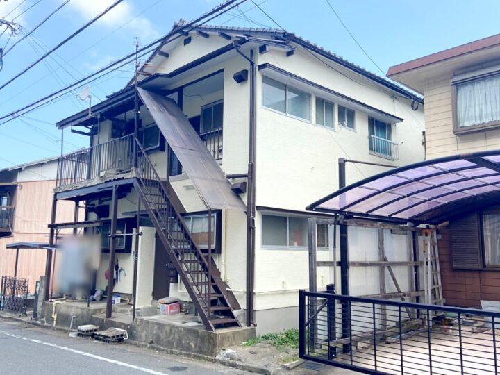 福岡県北九州市八幡西区でモルタル壁の外壁塗装と屋根の高圧洗浄が完了