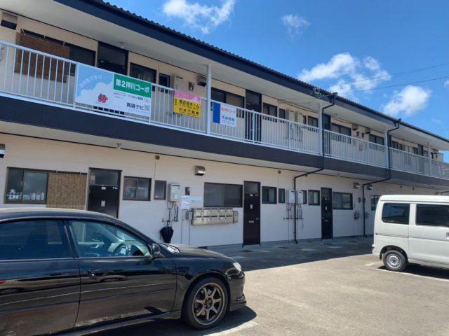 宮崎県宮崎市大字新名爪のアパート修繕、屋根・外壁塗装が完成