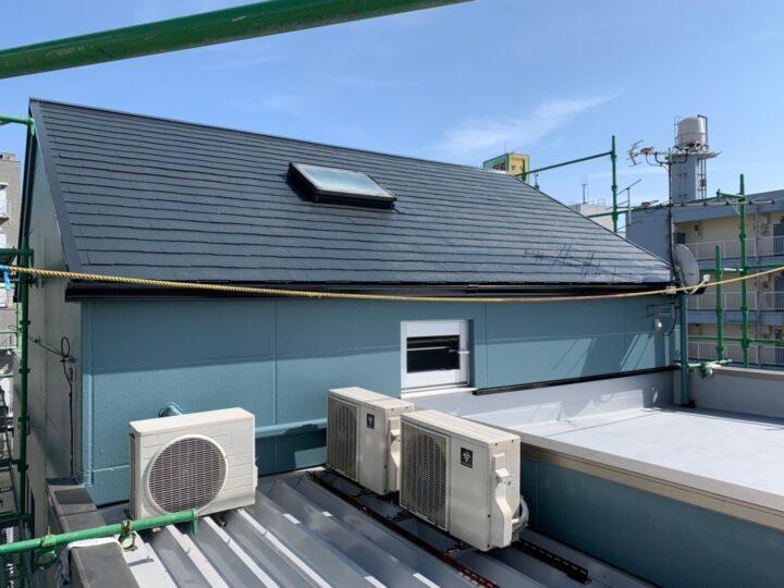 屋根・防水完成の様子