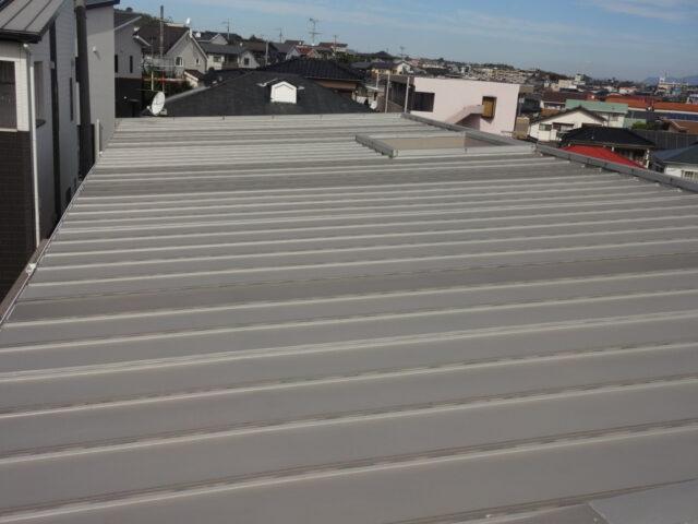 折半屋根の様子
