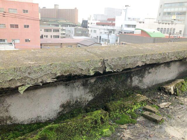屋上防水リフォーム前の様子