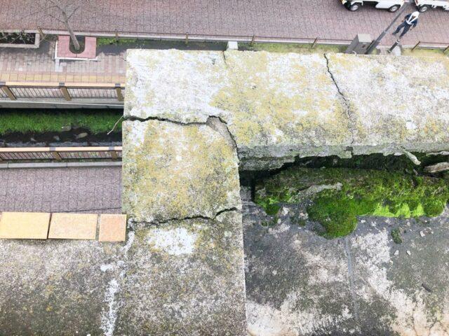 屋上防水笠木部分の様子