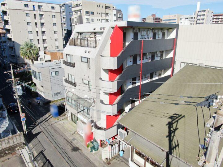 鹿児島市加治屋町マンションの屋上防水と外壁塗装一面塗装塗装